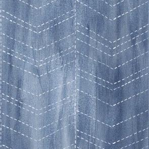 Chevron Wash - blue