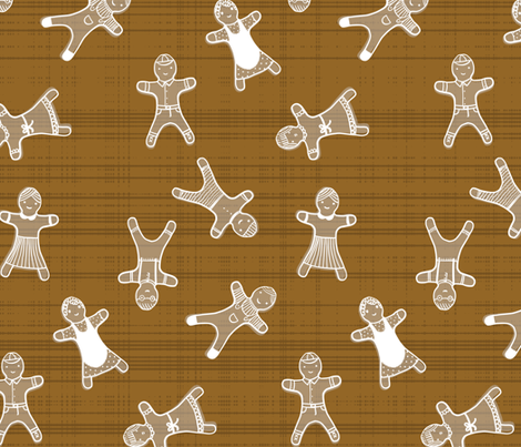 Gingerbread Men fabric by mrshervi on Spoonflower - custom fabric