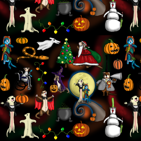 Christmas Nightmare fabric by deva_kolb on Spoonflower - custom fabric