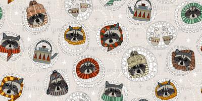 hygge raccoons