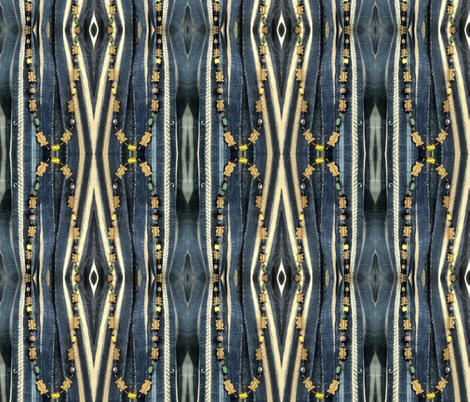 Beads Over Indigo fabric by susaninparis on Spoonflower - custom fabric