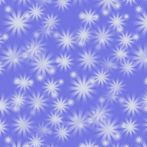 snow on periwinkle