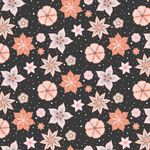 Night Flowers coordinate pattern