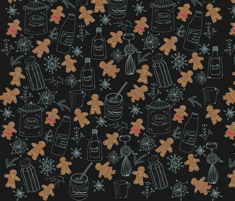 Gingerbread Extravaganza fabric by christiannaburt on Spoonflower - custom fabric