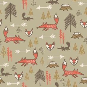 Fox in Pines Orange