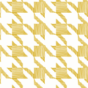 houndstooth mustard gold