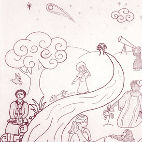 Women of Science Toile - mirrored