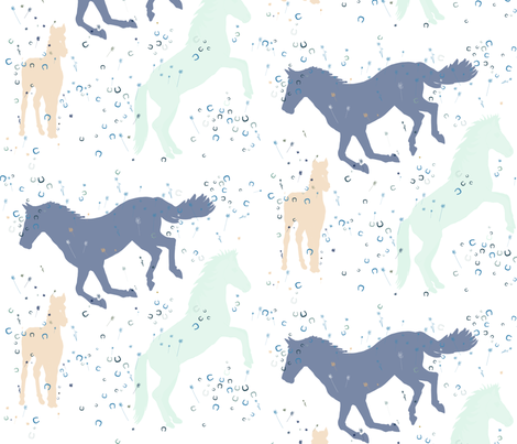 Shadow Horses fabric by calllama on Spoonflower - custom fabric