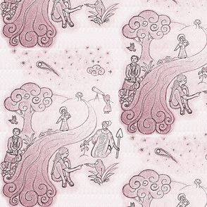 Women of Science - Burgundy Toile