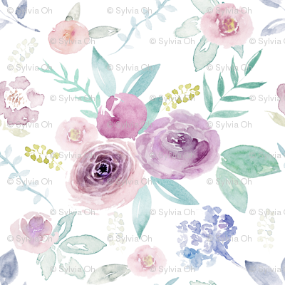 Spring Watercolour Florals MEDIUM