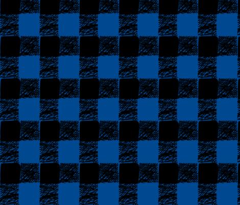 buffalo plaid-blue fabric by kae50 on Spoonflower - custom fabric