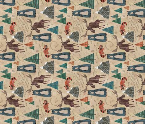 Mountain Animals (Horizontal Yard) fabric by sarah_treu on Spoonflower - custom fabric