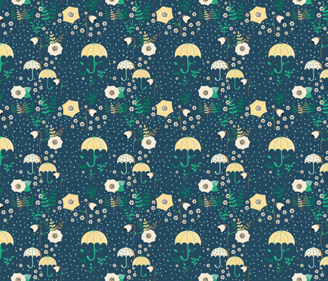 Rainy Autumn 4 fabric by quirkysewing on Spoonflower - custom fabric