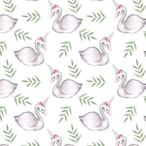 Watercolour Whimsical Swan MEDIUM