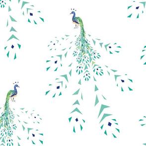 peacock geometric