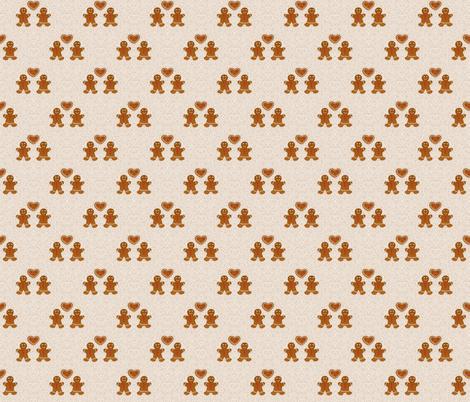 Gingerlove white fabric by kasumi_design on Spoonflower - custom fabric