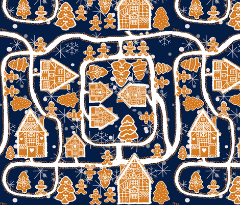 Sweet Village fabric by gabmana on Spoonflower - custom fabric