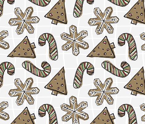 gingerbread fabric by fleabat on Spoonflower - custom fabric