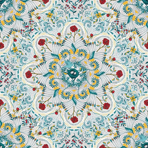 Nesting Mandala - teal version