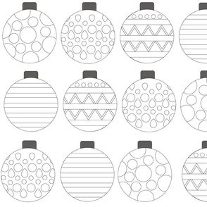 Cut and Color Christmas Ornaments