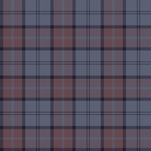 "Dunbar tartan, 6"", custom colorway redbrown/slate"