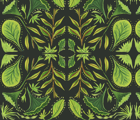 green and black10X10 fabric by laurieolinder@gmail_com on Spoonflower - custom fabric