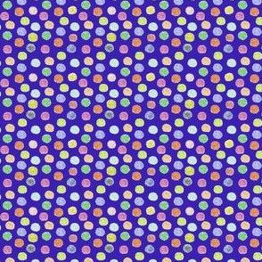 polka puffs on purple