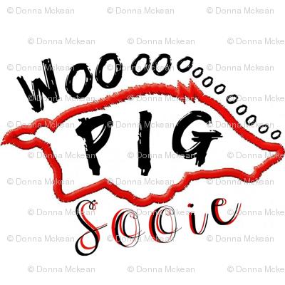 Arkansas Razorback Woo Pig