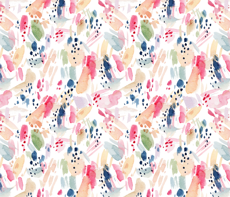 Abstract Watercolor Doodles fabric by hipkiddesigns on Spoonflower - custom fabric