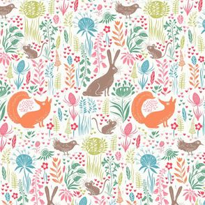Block print woodland animals