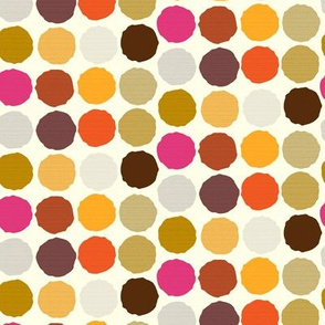 Autumn Dots Brown Orange Gold Gray Polka dot fall purple plum || miss chiff designs