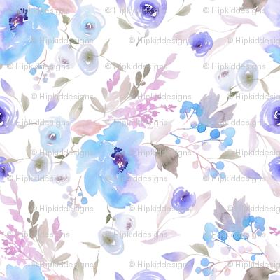 "8"" Blue Sugar Blooms"