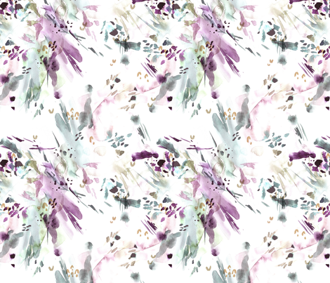 Lavender Watercolor Abstract fabric by hipkiddesigns on Spoonflower - custom fabric