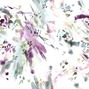 Lavender Watercolor Abstract