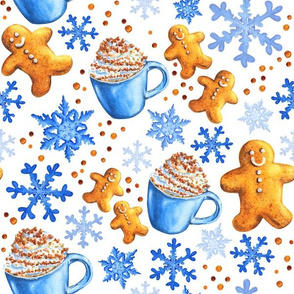 Snowflakes and Gingerbread Men