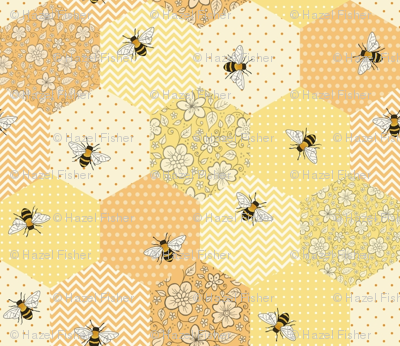 Patchwork Bees - smaller scale