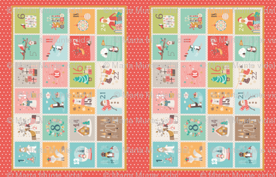 Advent Calendar Placemat Red