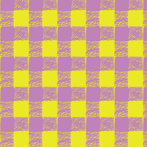 buffalo plaid-lavender & yellow
