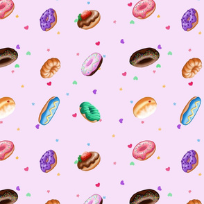 Donut pattern in purple
