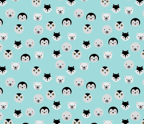 Arctic Blue  fabric by nataliatcha on Spoonflower - custom fabric