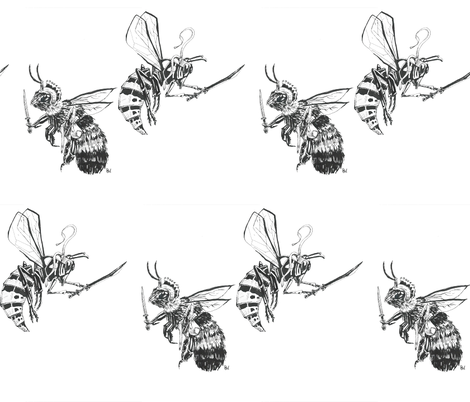 Wasp v. Bee fabric by weasleystudios on Spoonflower - custom fabric