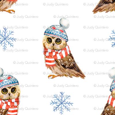 """4"""" Who Loves Winter / Owl"""