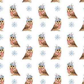 "2"" Who Loves Winter / Owl"