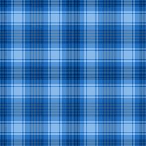 Bright Blue Plaid Pattern