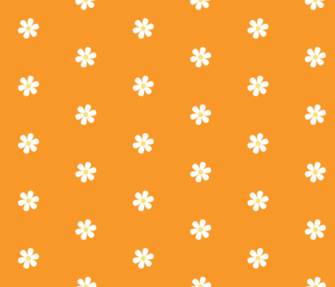 Orange Daisy Dots fabric by pumpkinbones on Spoonflower - custom fabric