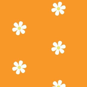 Orange Daisy Dots