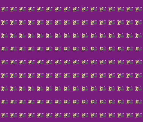 Lavender_whippet2_Purple-for_collars fabric by cloudsong_art on Spoonflower - custom fabric