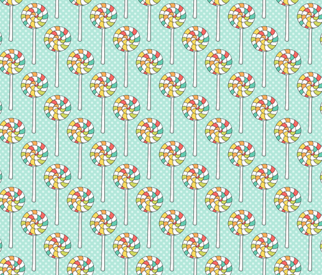 Lollipops on Blue fabric by northern_whimsy on Spoonflower - custom fabric