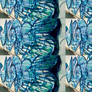 spoonflower blue graffiti 1