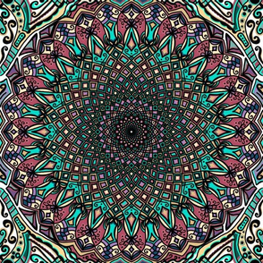 Mandala Project 453 | Colorful Boho Mandala